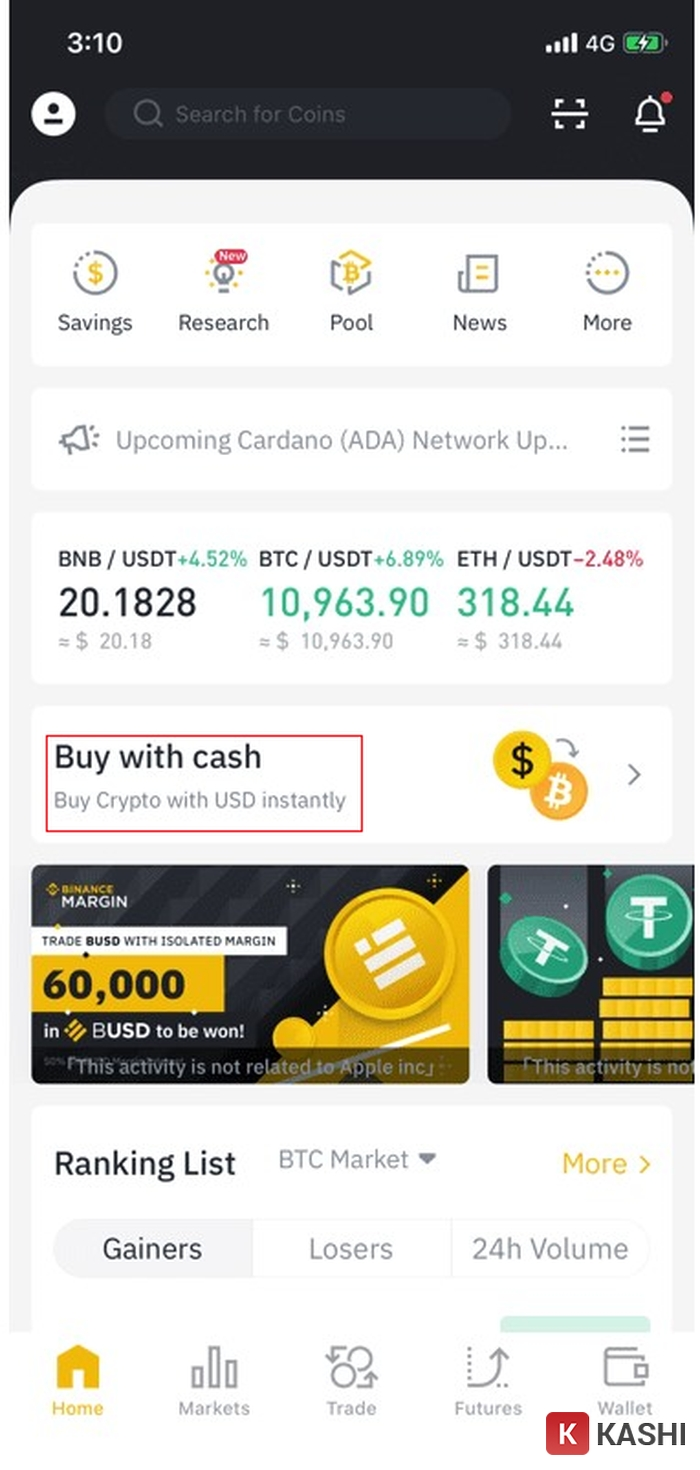 Buy with cash