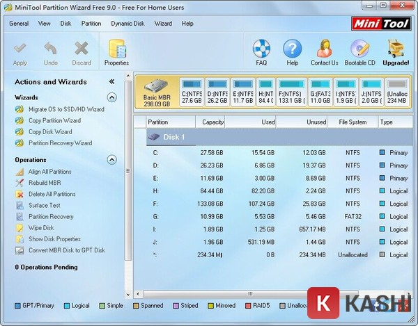 Minitools partition wizard