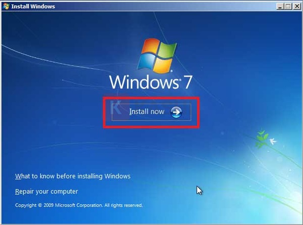 """Click chọn """"Install Now"""""""