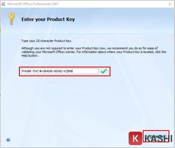 Office 2007 product key