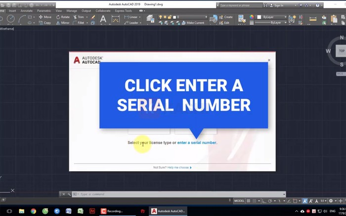 """Chọn """"Enter a serial number"""""""